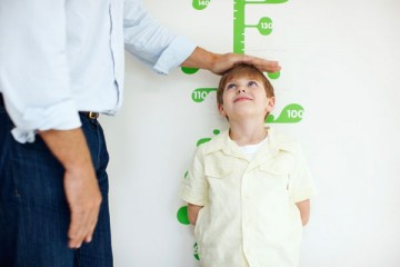 boy height being measured