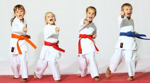 Kids involved in karate