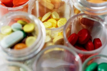 containers of prescription medications