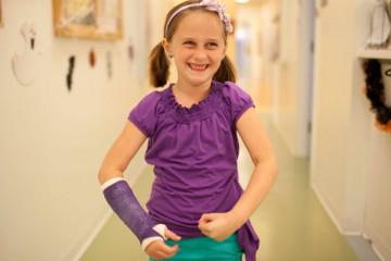 wrist cast on child