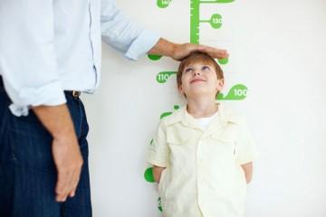 boy height being measured