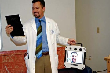 Dr. Jason Knight demonstrates telemedicine