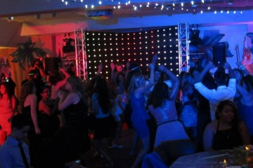 Kids dancing at the Oncology Prom