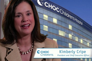 Kimberly Cripes speaks about the new patient tower at CHOC
