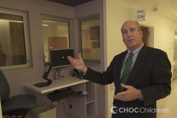 Dr. James Cappon tours the CHOC Children's Bill Holmes Tower