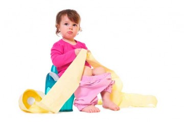 Toddler girl toilet training