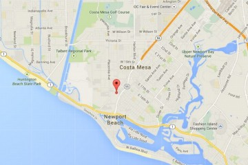 Map showing location of CHOC Children's Specialty Center, Newport Beach
