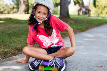Girl on skateboard