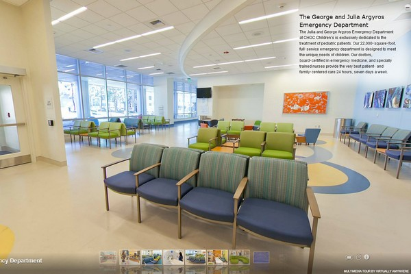 View of the emergency room at CHOC Children's Hospital