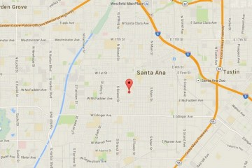 Map showing location of CHOC Children's Clinic, Santa Ana (at the Boys & Girls Club)