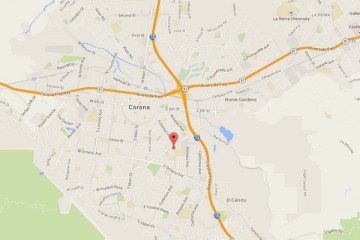 Map showing location of CHOC Children's Health Center Corona