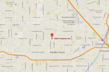 Map showing location of CHOC Children's Health Center, Garden Grove