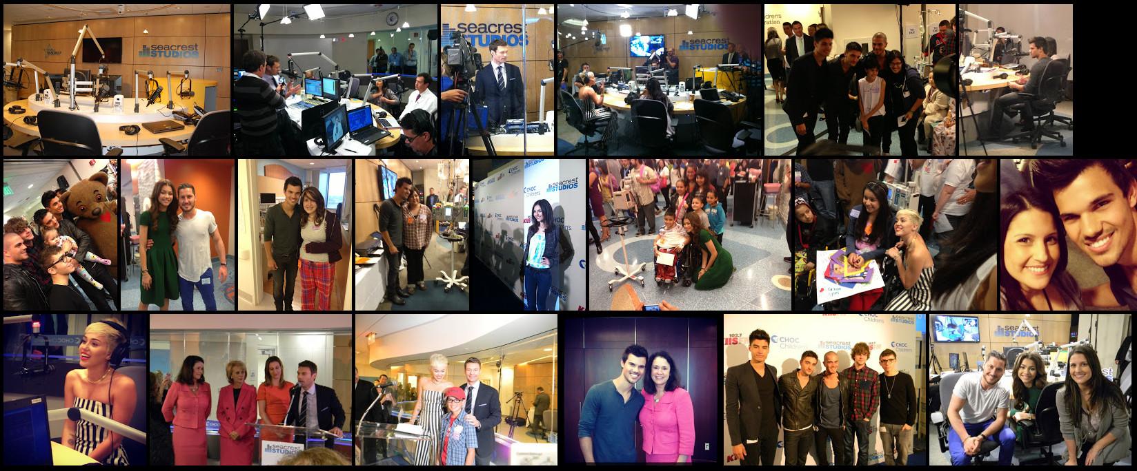 Special guests visit the Seacrest Studio