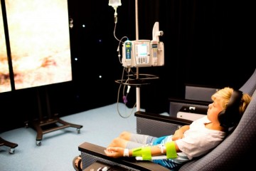 blonde boy receiving infusion