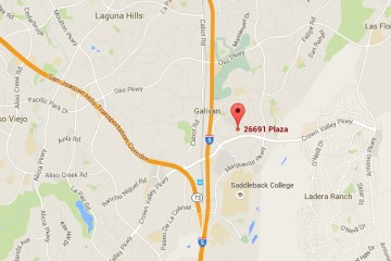 Map showing location of CHOC Children's Health Center Mission Viejo