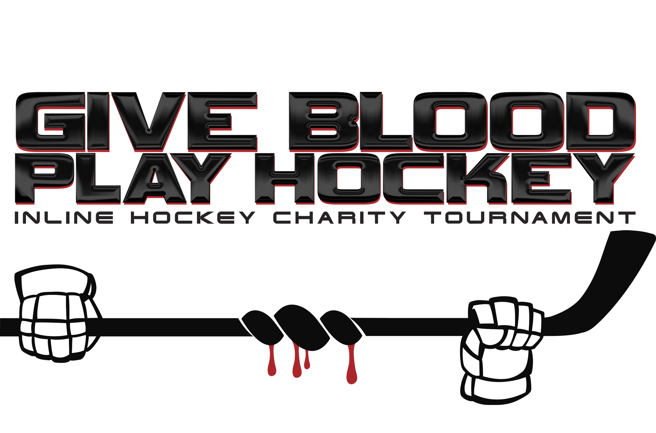 Give Blood Play Hockey Inline Hockey Charity Tournament logo