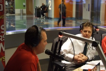 Dr. Taraman in Seacrest Studio for podcast
