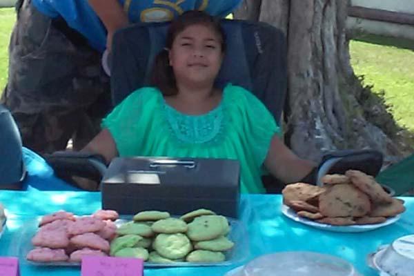 Juneau at her bake sale