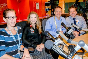 multidisciplinary team in Seacrest Studio for podcast