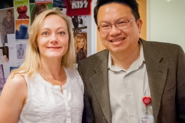 Dr. Alexandra Roche and Dr. Wayne Nguyen