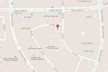 Map showing location of CHOC Children's Primary Care Sea View Aliso Viejo