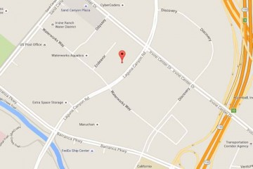 Map showing location of CHOC Children's Primary Care Sea View Irvine