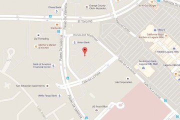 Map showing location of CHOC Children's Primary Care Sea View Laguna Hills