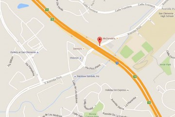 Map showing location of CHOC Children's Primary Care Sea View San Clemente