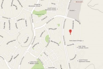 Map showing location of CHOC Children's Primary Care SOCPA Ladera Ranch