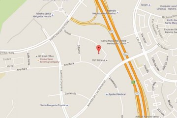 Map showing location of CHOC Children's Primary Care SOCPA Rancho Santa Margarita
