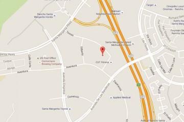 Map showing location of CHOC Children's Primary Care SOCPA Rancho Santa Margarita