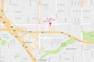 Map showing location of CHOC Children's Health Center, Centrum