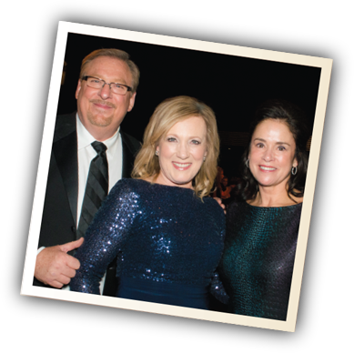 (from left to right) Rick Warren, Kay Warren and Kim Cripe, CHOC President and CEO, at the CHOC Cherishes Children Gala