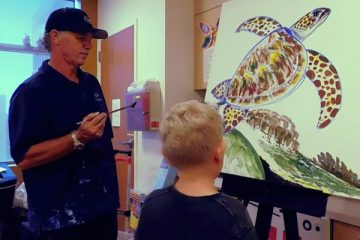 Wyland visits CHOC Children's