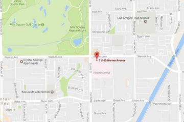 Map showing location of CHOC Children's Specialists Gastroenterology, Fountain Valley