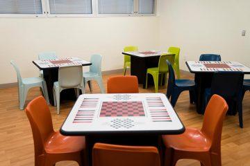 Mental health unit activity room