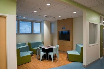 Activity room in the mental health unit