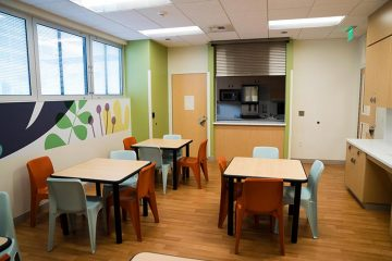 Mental health unit dining room