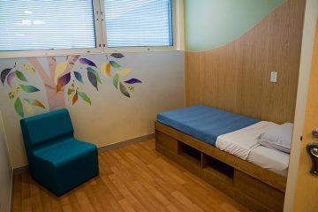 Mental health unit patient room