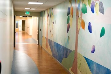 Mental health unit hallway
