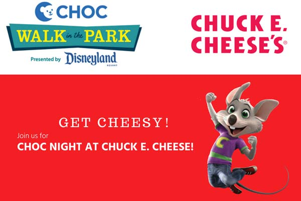 Chuck E Cheese CHOC Walk in the Park FUNdraiser