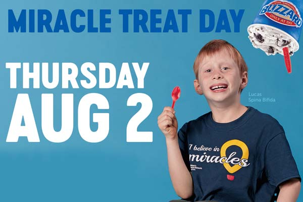 Dairy Queen Miracle Treat Day