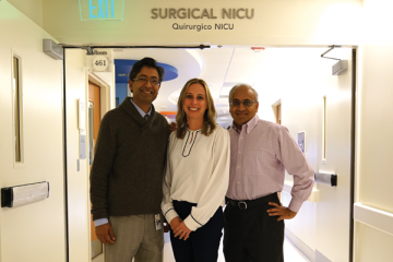 Dr. Ahmad, Melissa Powell, Dr. Kabeer, Surgical NICU at CHOC