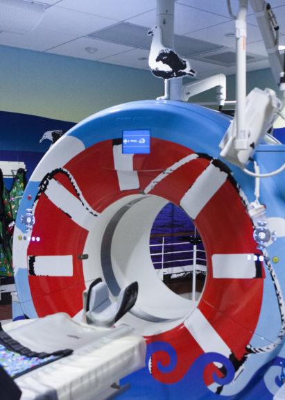 CHOC MRI scanner, decorated in a nautical theme