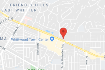 map of pediatric urgent care in whittier