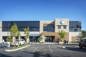 Exterior of Thompson Autism Center at CHOC Children's building