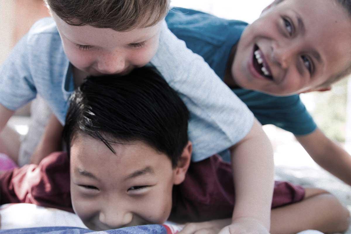 Cheerful kids playing
