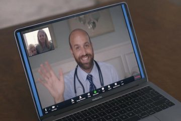 Laptop with telehealth image