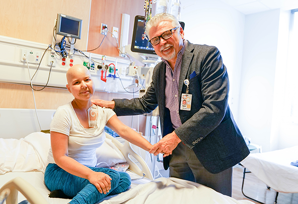 Dr. Kirov, Director of Lymphoma Treatment Program, with oncology patient