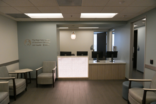 the lobby of the fetal care center of southern california